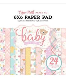 ECHO PARK - Hello Baby Girl 6x6 Inch Paper Pad