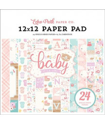 ECHO PARK -  Hello Baby Girl - 12x12  Pad Collection Kit