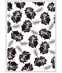 EMBOSSING FOLDER - Tropical Flowers