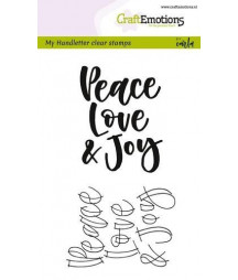 CRAFTEMOTIONS - handletter - Peace Love...