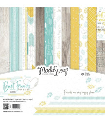 "MODASCRAP - Friends Forever 12""x12""  Pad Collection Kit"