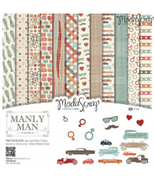 "MODASCRAP - Manly Man 12""x12""  Pad Collection Kit"