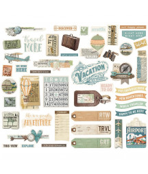 SIMPLE STORIES -  SV Traveler Collage Bits & Pieces
