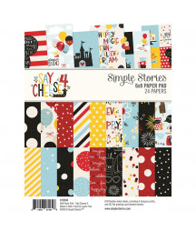 SIMPLE STORIES - Say cheese 4 - 6x8 Inch Paper Pad