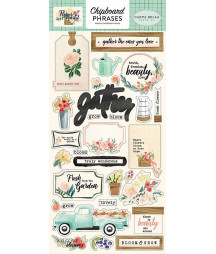 CARTA BELLA - Flower Market 6x13 Chipboard Phaser