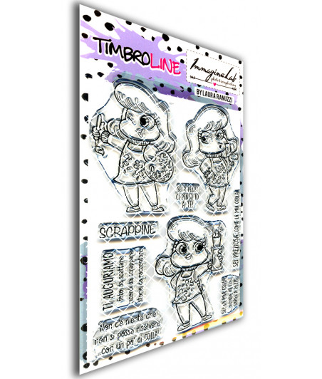 TimbroLINE - Le crafty's Angels by Laura Ranuzzi