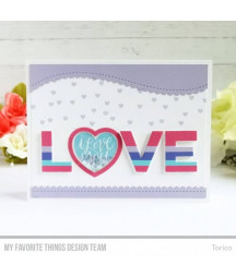 MY FAVORITE THINGS  - Die-namics Mini Heart Shaker Window & Frame