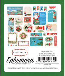 CARTA BELLA -  A Very Merry Christmas -  Ephemera
