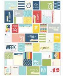 SIMPLE STORIES - Week in Review Cards - Snap