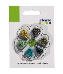 ARTEMIO - Mini brads Green