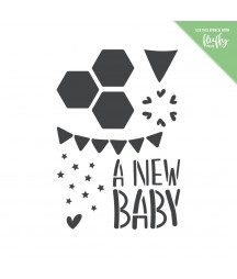 MODASCRAP - Stencil New Baby