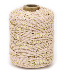 VIVANT - Twine 2 mm x 50 m  - Marble rose / gold