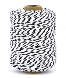 VIVANT - Twine 2 mm x 50 m  - Twist black / White