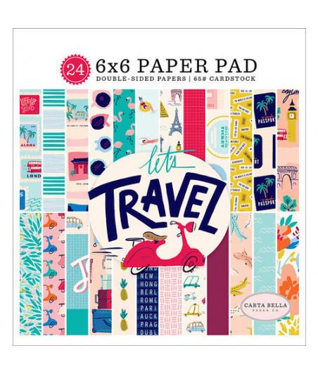 CARTA BELLA - Let's Travel - 6x6 Inch Paper Pad