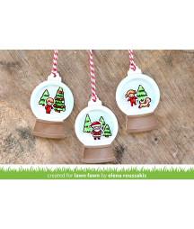 LAWN FAWN - snow globe gift tag