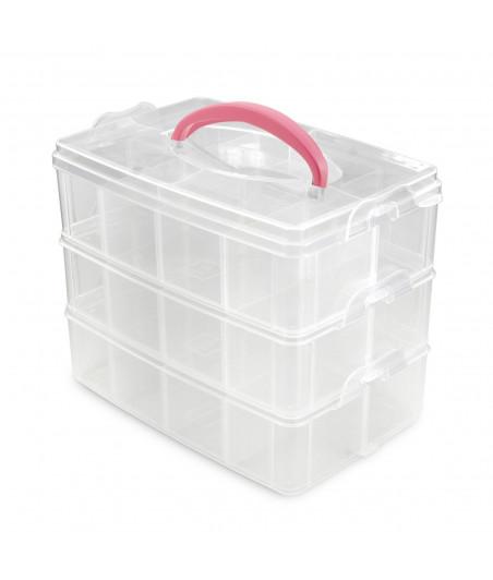 Vaessen Creative - Storage case 3 layers with dividers