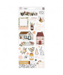 AMERICAN CRAFTS - Auburn Lane Collection - Cardstock Stickers with Foil Accents