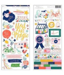 AMERICAN CRAFTS - Star Gazer Collection - Cardstock Stickers with Foil Accents
