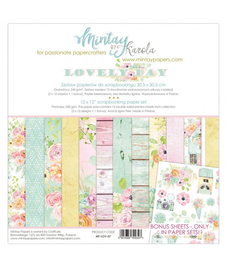 MINTAY BY KAROLA -  Lovely Day - 12x12  Pad Collection Kit