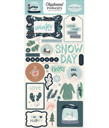 CARTA BELLA - Snow Much Fun - 6x13 Chipboard Phaser