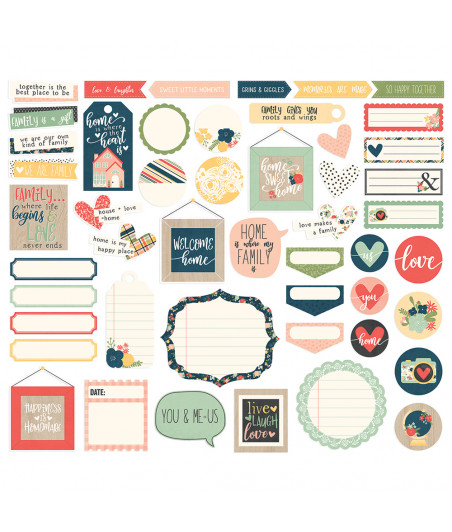 SIMPLE STORIES - So Happy Together - Journal Bits & Pieces