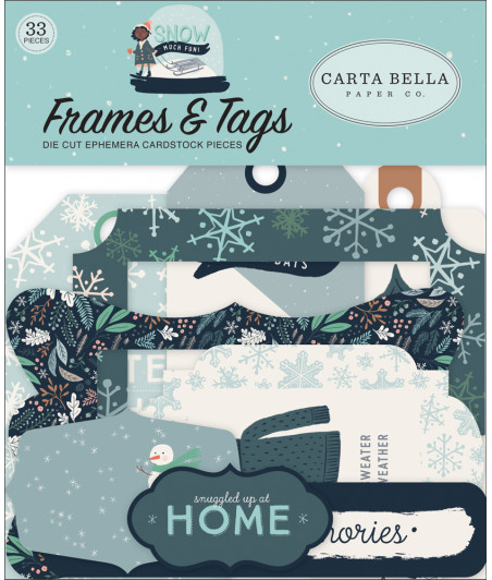 CARTA BELLA - Snow Much Fun - Frames e Tags