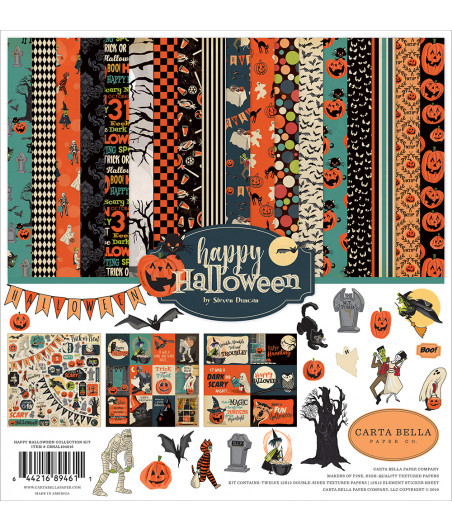 CARTA BELLA - Happy Halloween - Collection Kit 12X12