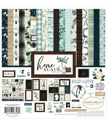 CARTA BELLA - Home Again - Collection Kit 12X12