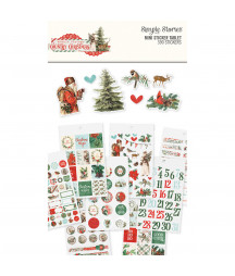 SIMPLE STORIES - Country Christmas - Mini Sticker Table